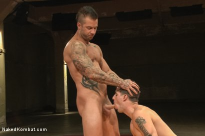Photo number 11 from First Match of NK's Summer Smackdown 10-Man Kombatant Tournament! shot for Naked Kombat on Kink.com. Featuring Rod Daily and Tyler Alexander in hardcore BDSM & Fetish porn.