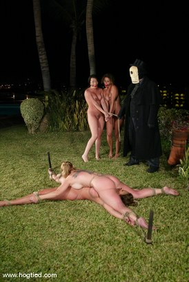 Photo number 9 from CABO<br>DAY OF THE DEAD part 3<BR>A fantasy. shot for Hogtied on Kink.com. Featuring Christina Carter, Dana DeArmond, Lola, Dee Williams and Lew Rubens in hardcore BDSM & Fetish porn.