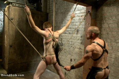 Photo number 10 from One of BG's members goes in front of the camera for the first time shot for Bound Gods on Kink.com. Featuring Adam Herst and Seamus O'Reilly in hardcore BDSM & Fetish porn.