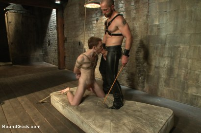 Photo number 11 from One of BG's members goes in front of the camera for the first time shot for Bound Gods on Kink.com. Featuring Adam Herst and Seamus O'Reilly in hardcore BDSM & Fetish porn.