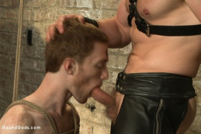 Photo number 12 from One of BG's members goes in front of the camera for the first time shot for Bound Gods on Kink.com. Featuring Adam Herst and Seamus O'Reilly in hardcore BDSM & Fetish porn.