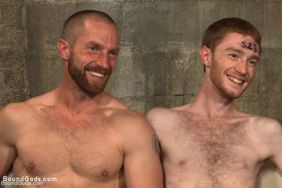 Photo number 15 from One of BG's members goes in front of the camera for the first time shot for Bound Gods on Kink.com. Featuring Adam Herst and Seamus O'Reilly in hardcore BDSM & Fetish porn.