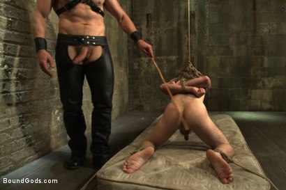 Photo number 8 from One of BG's members goes in front of the camera for the first time shot for Bound Gods on Kink.com. Featuring Adam Herst and Seamus O'Reilly in hardcore BDSM & Fetish porn.