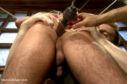Photo number 13 from Two edging perverts take down a sexy stud with a fat cock shot for Men On Edge on Kink.com. Featuring Jett Jax in hardcore BDSM & Fetish porn.