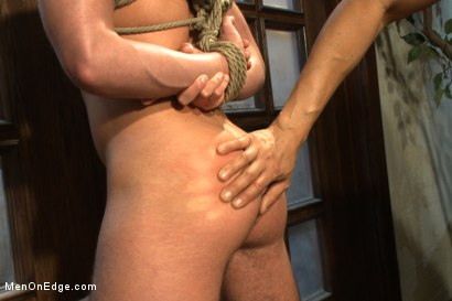Photo number 12 from Two edging perverts take down a sexy stud with a fat cock shot for Men On Edge on Kink.com. Featuring Jett Jax in hardcore BDSM & Fetish porn.