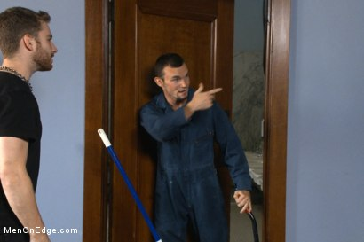 Photo number 1 from Hot janitor endures relentless edging at an airport restroom shot for Men On Edge on Kink.com. Featuring Axel Flint in hardcore BDSM & Fetish porn.
