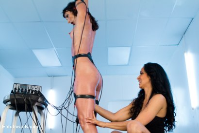 Photo number 9 from Isis Love and Wenona in Electrified Wrist Suspension! shot for Electro Sluts on Kink.com. Featuring Isis Love and Wenona in hardcore BDSM & Fetish porn.