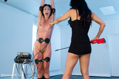 Photo number 8 from Isis Love and Wenona in Electrified Wrist Suspension! shot for Electro Sluts on Kink.com. Featuring Isis Love and Wenona in hardcore BDSM & Fetish porn.