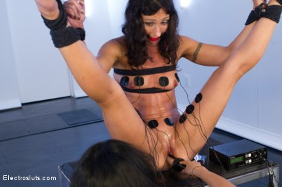 Photo number 5 from Wenona and Isis: the Final Showdown shot for Electro Sluts on Kink.com. Featuring Isis Love and Wenona in hardcore BDSM & Fetish porn.