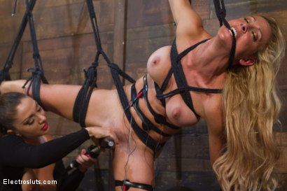 Photo number 12 from MILF Interrogation shot for Electro Sluts on Kink.com. Featuring Cherie Deville and Lea Lexis in hardcore BDSM & Fetish porn.