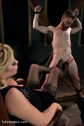 Photo number 7 from HOT, FEATURE MODEL, TYRA SCOTT TOPS FOR THE FIRST TIME shot for TS Seduction on Kink.com. Featuring Tyra Scott and Sebastian Keys in hardcore BDSM & Fetish porn.