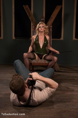 Photo number 3 from HOT, FEATURE MODEL, TYRA SCOTT TOPS FOR THE FIRST TIME shot for TS Seduction on Kink.com. Featuring Tyra Scott and Sebastian Keys in hardcore BDSM & Fetish porn.