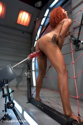 Photo number 12 from Spider Web of Machines, Tit Suction Breath Play Nipple Clamps & Big Os shot for Fucking Machines on Kink.com. Featuring Daisy Ducati in hardcore BDSM & Fetish porn.