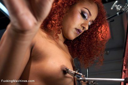 Photo number 11 from Spider Web of Machines, Tit Suction Breath Play Nipple Clamps & Big Os shot for Fucking Machines on Kink.com. Featuring Daisy Ducati in hardcore BDSM & Fetish porn.