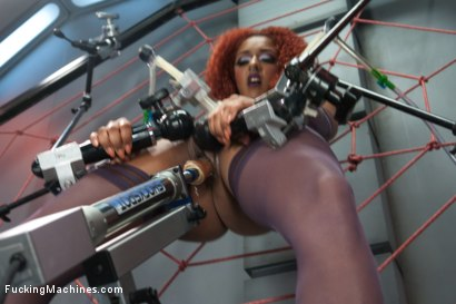 Photo number 3 from Spider Web of Machines, Tit Suction Breath Play Nipple Clamps & Big Os shot for Fucking Machines on Kink.com. Featuring Daisy Ducati in hardcore BDSM & Fetish porn.