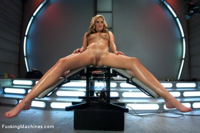 Photo number 3 from HER FIRST PORN -A.K.A NON-STOP MACHINE FUCKING ORGASMS FOR HER PUSSY shot for Fucking Machines on Kink.com. Featuring Dallas Blaze in hardcore BDSM & Fetish porn.