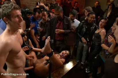 Photo number 9 from Adorable little flirt gets fucked in public! shot for Public Disgrace on Kink.com. Featuring Evi Fox and Danny Wylde in hardcore BDSM & Fetish porn.