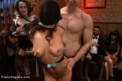 Photo number 3 from Adorable little flirt gets fucked in public! shot for Public Disgrace on Kink.com. Featuring Evi Fox and Danny Wylde in hardcore BDSM & Fetish porn.