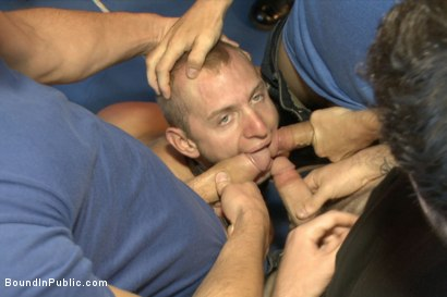 Photo number 4 from Cock Hungry Whore Gang Fucked at Mr. S Leather shot for Bound in Public on Kink.com. Featuring Dayton O'Connor, Randall O'Reilly and Rex Wolfe in hardcore BDSM & Fetish porn.