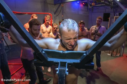 Photo number 8 from Horny crowd gang bangs a young stud at the playspace of Mr S Leather  shot for Bound in Public on Kink.com. Featuring Dayton O'Connor, Randall O'Reilly and Rex Wolfe in hardcore BDSM & Fetish porn.