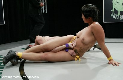 Photo number 8 from The Gymnast vs. The Dragon shot for Ultimate Surrender on Kink.com. Featuring Wenona and DragonLily in hardcore BDSM & Fetish porn.