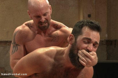 "Photo number 14 from Rich ""The Wrecking-Ball"" Kelly vs Mitch ""The Machine"" Vaughn  shot for Naked Kombat on Kink.com. Featuring Mitch Vaughn and Rich Kelly in hardcore BDSM & Fetish porn."