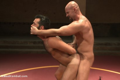 "Photo number 12 from Rich ""The Wrecking-Ball"" Kelly vs Mitch ""The Machine"" Vaughn  shot for Naked Kombat on Kink.com. Featuring Mitch Vaughn and Rich Kelly in hardcore BDSM & Fetish porn."