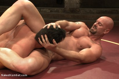 "Photo number 11 from Rich ""The Wrecking-Ball"" Kelly vs Mitch ""The Machine"" Vaughn  shot for Naked Kombat on Kink.com. Featuring Mitch Vaughn and Rich Kelly in hardcore BDSM & Fetish porn."
