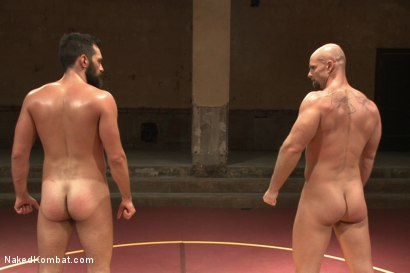 "Photo number 10 from Rich ""The Wrecking-Ball"" Kelly vs Mitch ""The Machine"" Vaughn  shot for Naked Kombat on Kink.com. Featuring Mitch Vaughn and Rich Kelly in hardcore BDSM & Fetish porn."