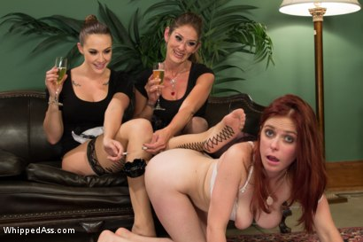 Photo number 6 from Trust Fund Brat BOUND, DP'd and FACE FUCKED by Hot Maids shot for Whipped Ass on Kink.com. Featuring Chanel Preston, Penny Pax and Felony in hardcore BDSM & Fetish porn.