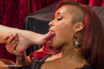 Photo number 5 from Kristina Rose's Hot Lesbian Foot Show! shot for Foot Worship on Kink.com. Featuring Kristina Rose and Skin Diamond in hardcore BDSM & Fetish porn.