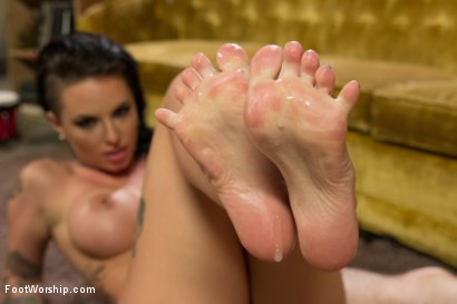 Photo number 10 from The FEET Are HOLY!: Cool and Crazy Paws shot for Foot Worship on Kink.com. Featuring Christy Mack and Wolf Hudson in hardcore BDSM & Fetish porn.