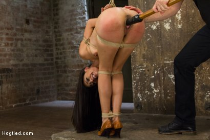 Photo number 11 from Exotic Rope Slut Shows Off  Her Gushing Cunt shot for Hogtied on Kink.com. Featuring Lyla Storm in hardcore BDSM & Fetish porn.