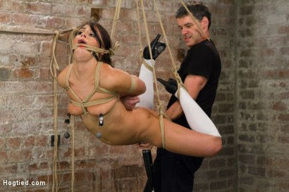 Photo number 7 from Fresh Young Pretty Girl Destroyed by Bondage and Orgasms shot for Hogtied on Kink.com. Featuring Adriana Chechik in hardcore BDSM & Fetish porn.