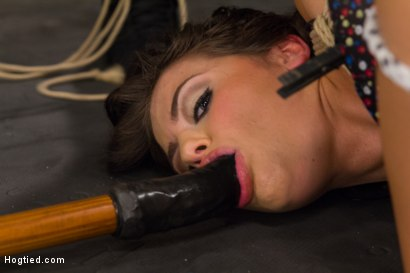 Photo number 4 from Fresh Young Pretty Girl Destroyed by Bondage and Orgasms shot for Hogtied on Kink.com. Featuring Adriana Chechik in hardcore BDSM & Fetish porn.