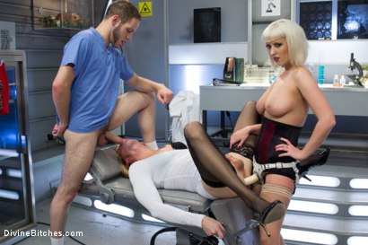 Photo number 11 from Dr. Torn's FemDomme Laboratory: Pushed, Probed, Fucked and Cucked! shot for Divine Bitches on Kink.com. Featuring Cherry Torn, Wolf Hudson and Sean Spurt in hardcore BDSM & Fetish porn.