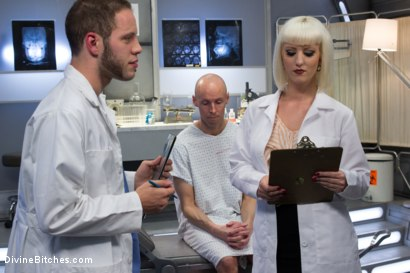 Photo number 6 from Dr. Torn's FemDomme Laboratory: Pushed, Probed, Fucked and Cucked! shot for Divine Bitches on Kink.com. Featuring Cherry Torn, Wolf Hudson and Sean Spurt in hardcore BDSM & Fetish porn.