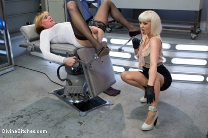Photo number 8 from Dr. Torn's FemDomme Laboratory: Pushed, Probed, Fucked and Cucked! shot for Divine Bitches on Kink.com. Featuring Cherry Torn, Wolf Hudson and Sean Spurt in hardcore BDSM & Fetish porn.
