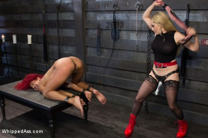 Photo number 12 from Daisy Ducati's Initiation: Fear of Whipping Tried and Tested shot for Whipped Ass on Kink.com. Featuring Aiden Starr and Daisy Ducati in hardcore BDSM & Fetish porn.