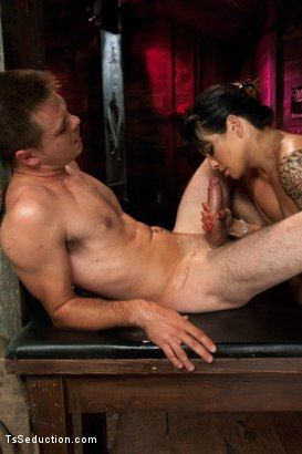 Photo number 13 from Worship Her Cock, You little Worm shot for TS Seduction on Kink.com. Featuring TS Foxxy and James Riker in hardcore BDSM & Fetish porn.