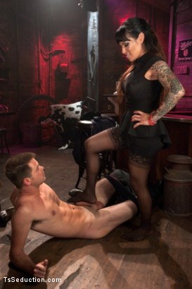 Photo number 1 from Worship Her Cock, You little Worm shot for TS Seduction on Kink.com. Featuring TS Foxxy and James Riker in hardcore BDSM & Fetish porn.