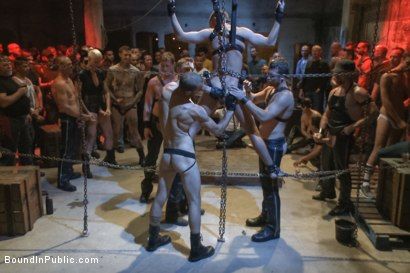 Photo number 8 from Southern stud gets fucked and showered with cum in front of 100 men! shot for Bound in Public on Kink.com. Featuring Hayden Richards, Jordan Foster and Connor Maguire in hardcore BDSM & Fetish porn.