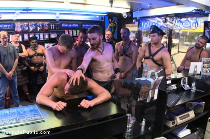 Photo number 8 from Naked stud bound, beaten and humiliated at Dore Alley Street Fair shot for Bound in Public on Kink.com. Featuring Hayden Richards, Brian Bonds and Rod Daily in hardcore BDSM & Fetish porn.