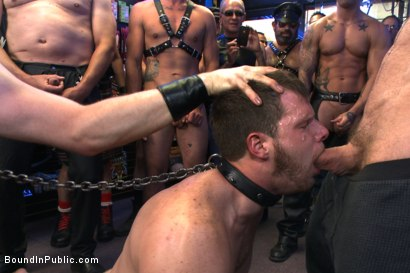 Photo number 7 from Naked stud bound, beaten and humiliated at Dore Alley Street Fair shot for Bound in Public on Kink.com. Featuring Hayden Richards, Brian Bonds and Rod Daily in hardcore BDSM & Fetish porn.