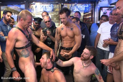 Photo number 13 from Naked stud bound, beaten and humiliated at Dore Alley Street Fair shot for Bound in Public on Kink.com. Featuring Hayden Richards, Brian Bonds and Rod Daily in hardcore BDSM & Fetish porn.