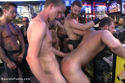 Photo number 12 from Naked stud bound, beaten and humiliated at Dore Alley Street Fair shot for Bound in Public on Kink.com. Featuring Hayden Richards, Brian Bonds and Rod Daily in hardcore BDSM & Fetish porn.
