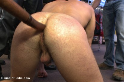 Photo number 13 from Cock hungry whore cattle prodded and fucked at Dore Alley Street Fair shot for Bound in Public on Kink.com. Featuring Hayden Richards and Brian Bonds in hardcore BDSM & Fetish porn.
