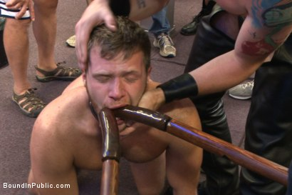 Photo number 12 from Cock hungry whore cattle prodded and fucked at Dore Alley Street Fair shot for Bound in Public on Kink.com. Featuring Hayden Richards and Brian Bonds in hardcore BDSM & Fetish porn.