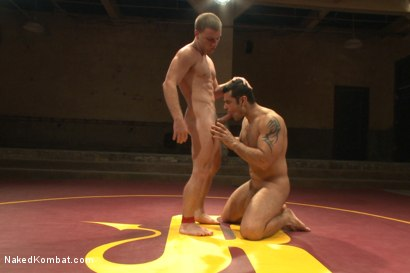 Photo number 9 from Summer Smackdown's Last Quarter Final Match! - David and Goliath Bout shot for Naked Kombat on Kink.com. Featuring Doug Acre and Marcus Ruhl in hardcore BDSM & Fetish porn.