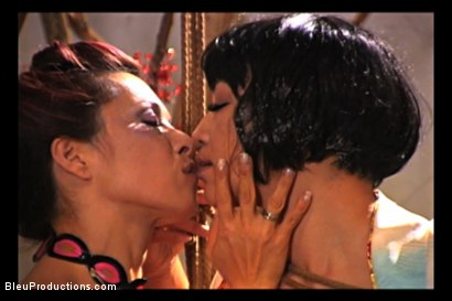 Photo number 5 from Silken Sleeves shot for Bleu Films on Kink.com. Featuring Midori and Mayan in hardcore BDSM & Fetish porn.